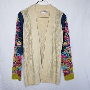 Flying Tomato Knit Paisley Floral Cardigan Sweater
